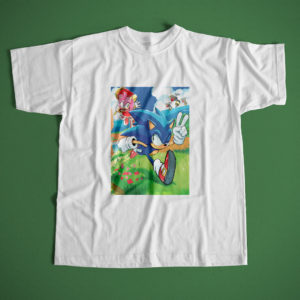 Polera Portada comics Sonic the Hedgehog